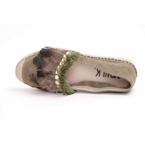 Catwalk Espadriles Kaki dames (FEATHER/02 - FEATHER/02) - Rigi